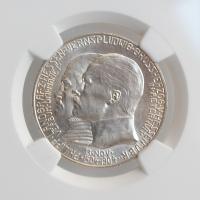 """Гессен 2 марки 1904 г., NGC UNC Details, """"400 лет со дня рождения Филиппа I Великодушного"""""""