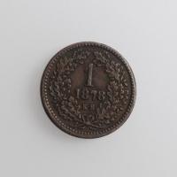 """Венгрия 1 крейцер 1878 г., XF, """"Император Франц Иосиф I (1848 - 1916)"""""""