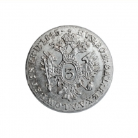 "Австрия 3 крейцера 1815 г. A, UNC, ""Император Франц II (1792 - 1835)"""