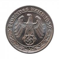 """Германия - Третий рейх 50 рейхспфеннигов 1939 г. A, UNC, """"Нацистская Германия (1933 - 1945)"""""""