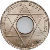 """Британская Западная Африка 1/10 пенни 1908 г., BU, """"Король Эдуард VII (1902 - 1910)"""""""