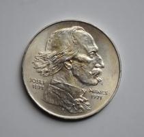 Чехословакия 100 крон 1971 г., UNC, '100 лет со дня смерти Йозефа Манеса'