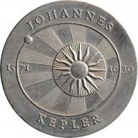 """ГДР 5 марок 1971 г., UNC, """"400 лет со дня рождения Иоганна Кеплера"""""""