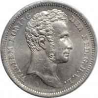 """Голландская Ост-Индия 1/4 гульдена 1840 г., UNC, """"Король Виллем I (1826 - 1840)"""""""