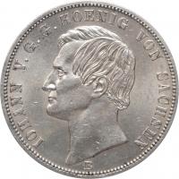 """Саксония 1 союзный талер 1871, AU+, """"Победа над Францией"""""""