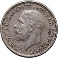 """Великобритания 6 пенсов 1929 г., XF, """"Король Георг V (1910 - 1936)"""""""