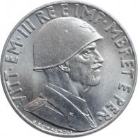 """Албания 0,20 лек 1939 г., UNC, """"Итальянская оккупация (1939 - 1943)"""""""