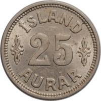 """Исландия 25 эйре 1933 г. N, UNC, """"Король Кристиан X (1922 - 1943)"""""""