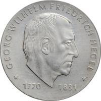"""ГДР 10 марок 1981 г., UNC, """"150 лет со дня смерти Георга Вильгельма Фридриха Гегеля"""""""