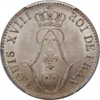 """Французская Гвиана 10 сантимов 1818 г. A, PCGS MS63, """"Колония Франции (1780 - 1846)"""""""