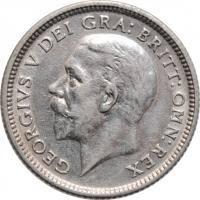 """Великобритания 6 пенсов 1926 г., XF, """"Король Георг V (1910 - 1936)"""""""