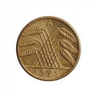 """Германия 5 рейхспфеннигов 1925 г. A, BU, """"Веймарская Республика (Рейхсмарка) (1924 - 1938)''"""