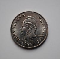 Новая Каледония 20 франков 1986 г., UNC, 'Заморское сообщество Франции (1949 - 2017)'