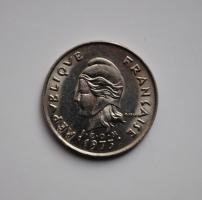 Новая Каледония 10 франков 1973 г., UNC, 'Заморское сообщество Франции (1949 - 2017)'