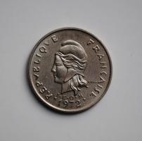 Новая Каледония 10 франков 1972 г., UNC, 'Заморское сообщество Франции (1949 - 2017)'