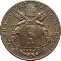 "Ватикан 10 чентезимо 1941 г., UNC, ""Папа Пий XII (1939 - 1958)"""