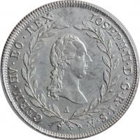 """Австрия 20 крейцеров 1787 г. A, UNC, """"Император Иосиф II (1780 - 1790)"""""""