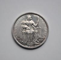 Новая Каледония 1 франк 1989 г., UNC, 'Заморское сообщество Франции (1949 - 2017)'