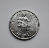 Новая Каледония 2 франка 1971 г., UNC, 'Заморское сообщество Франции (1949 - 2017)'