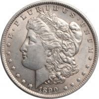 "США 1 доллар 1890 г., UNC, ""Доллар Моргана"""