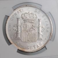 """Испания 5 песет 1898 г., NGC MS62, """"Король Альфонсо XIII (1886 - 1931)"""""""