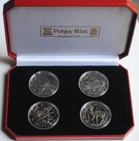 """Сьерра-Леоне набор 10 долларов 2008 г., PROOF, """"Ночные животные"""""""