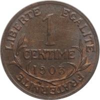 """Франция 1 сантим 1903 г., UNC, """"Третья Республика (1870 - 1941)"""""""