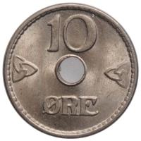 """Норвегия 10 эре 1949 г., BU, """"Король Хокон VII (1906 - 1957)"""""""