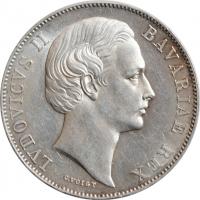 """Бавария 1 талер ND-1865 г., UNC, """"Король Людвиг II (1864 - 1886)"""""""