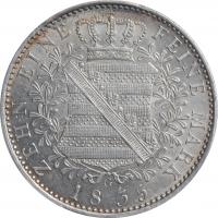 "Саксония 1 талер 1835 г. G, PCGS AU55, ""Король Антон (1826 - 1836)"""