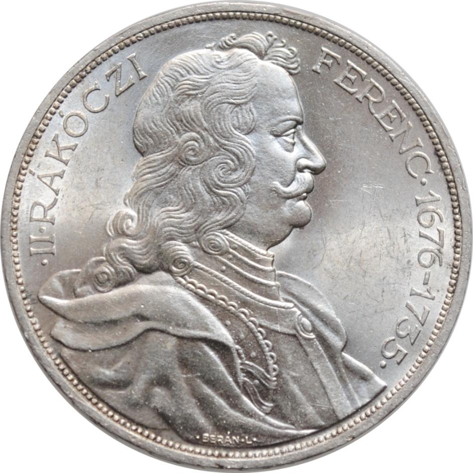 """Венгрия 2 пенго 1935 г., BU, """"200 лет со дня смерти Ференца II Ракоци"""""""
