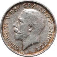 """Великобритания 6 пенсов 1924 г., VF, """"Король Георг V (1910 - 1936)"""""""