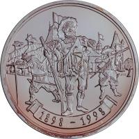 """Швейцария 20 франков 1998 г., PROOF, """"Стрелковый фестиваль в Альбисгютли"""""""