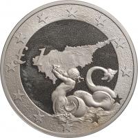 """Кипр 1 фунт 2004, BU, """"Вступление Кипра в ЕС"""""""