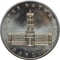 "ГДР 5 марок 1987 г., UNC, ""750 лет Берлину – Красная Ратуша"""