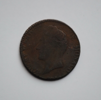 Монако 5 сантимов 1837 г., 'Князь Оноре V (1819 - 1841)'