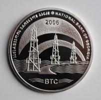"Грузия 3 лари 2006 г., PROOF, ""Нефтепровод Баку-Тбилиси-Джейхан"""