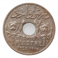 """Ливан 1 пиастр 1925 г., UNC, """"Французский протекторат (1924 - 1941)"""""""