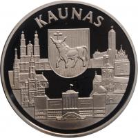 "Литва 10 лит 1999 г., PROOF, ""Каунас"""