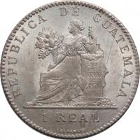 "Гватемала 1 реал 1894  г., UNC, ""Реал (1838 - 1912)"""