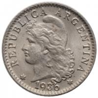 "Аргентина 5 сентаво 1936 г., BU, ""Песо аргентинское (1881 - 1969)"""