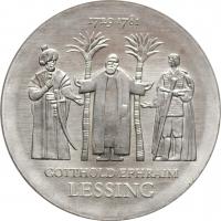 """ГДР 20 марок 1979 г., UNC, """"250 лет со дня рождения Готхольда Эфраима Лессинга"""""""