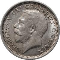 """Великобритания 6 пенсов 1925 г., AU, """"Король Георг V (1910 - 1936)"""""""