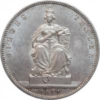 """Пруссия 1 талер 1871 г., UNC, """"Победа в Франко-прусской войне"""""""