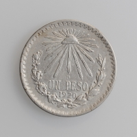 """Мексика 1 песо 1920 г. Mo, XF, """"Мексиканские Соединённые Штаты (1905 - 1969)"""""""