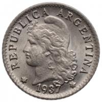 "Аргентина 5 сентаво 1937 г., BU, ""Песо аргентинское (1881 - 1969)"""