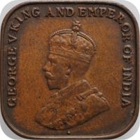 "Стрейтс Сетлментс 1 цент 1920 г., XF, ""Король Георг V (1911 - 1935)"""