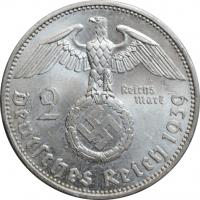 """Германия - Третий рейх 2 рейхсмарки 1939 г. A, BU, """"Нацистская Германия (1933 - 1945)"""""""