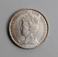 Нидерланды 1 гульден 1915 г., UNC, 'Королева Вильгельмина (1890 - 1948)'