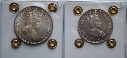 Итальянское Сомали 5 и 10 лир 1925 г., UNC, 'Король Виктор Эммануил III'